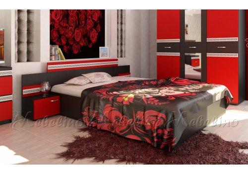 Легло Рока с 2 нощни шкафчета и декоративен профил -