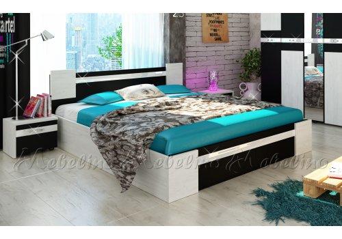 Легло Стило с 2 нощни шкафчета и МДФ профил гланц - Спалня